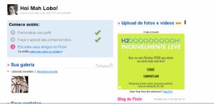 Adicionando contatos no Flickr